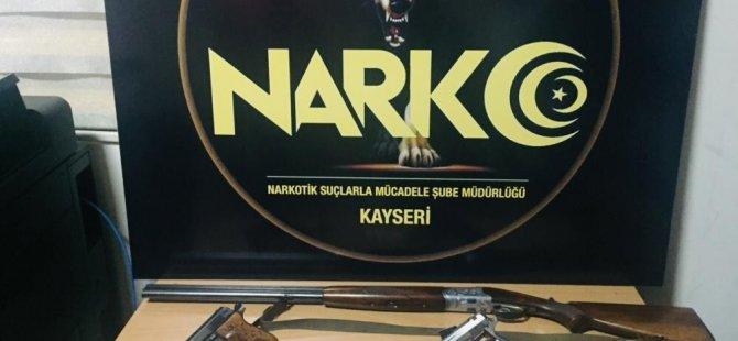 Kayseri'de 157 polis ile 19 adrese uyuşturucu baskını