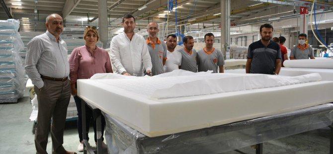 Mhp Milletvekili Baki Ersoy'dan BRN Yatak Fabrikasına Ziyaret