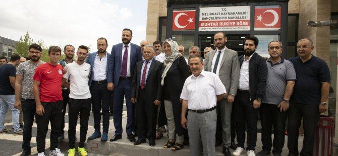 Başkan Büyükkılıç Melikgazi Teşkilatı ile Mimsin'de