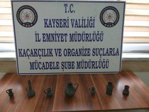 Kayseri'de 7 parça tarihi eser ele geçirildi 1 kişi gözaltına alındı