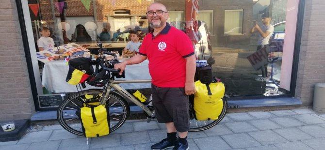 Belçika'dan Bisiklet ile 25 günde Kayseri'ye gelecek