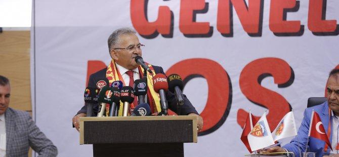 """Büyükkılıç: """"Kayserispor'a destek vermeye devam edeceğiz"""""""