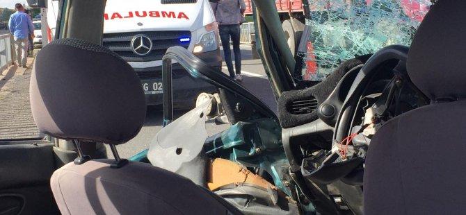 Yemliha köprüsünde trafik kazası: 4 yaralı