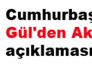 Cumhurbaşkanı Gül'den Akil İnsan açıklaması