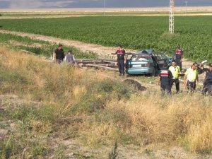 Kayseri'de Otomobil mısır tarlasına uçtu: 6 yaralı