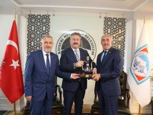 Oto sanatkarlar Başkanı Şeyhi Odakır'dan, Palancıoğlu'na ziyaret