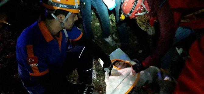Pınarbaşında Köpek saldırısı sonucu dağda mahsur kaldı 5 saat sonra kurtarıldı