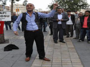 KAYSERİ'DE EŞİ BENZERİ OLMAYAN BİR PROTESTO