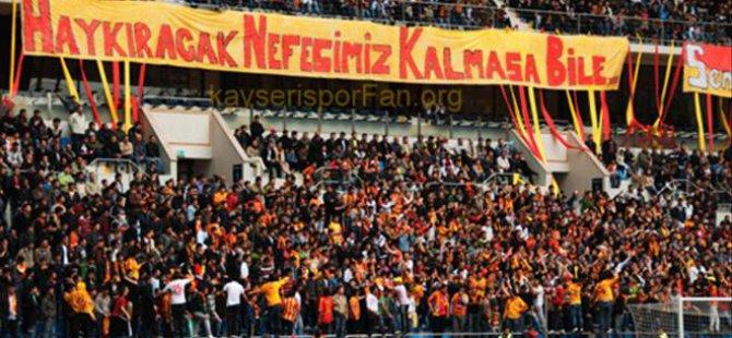 Söz sırası Kayserispor'un
