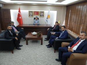 Yeniden Refah Partisi İl Başkanı Önder Narin Ak Parti'yi ziyaret etti