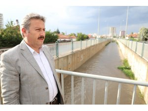 Başkan Palancıoğlu taşkın kanallarını inceledi