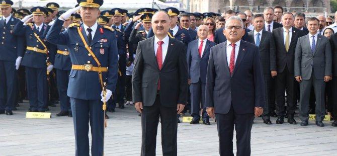 30 Ağustos Zafer Bayramı Kayseri'de kutlandı
