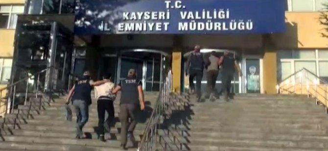 Kayseri'de DEAŞ adına faaliyet yürüten 3 kişi gözaltına alındı