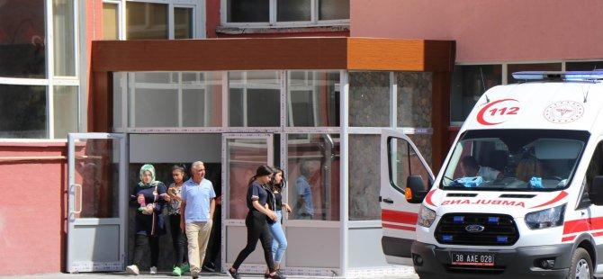 Okulun ikinci günü Kocasinan'da Kız lisesinde 'intihar' paniği