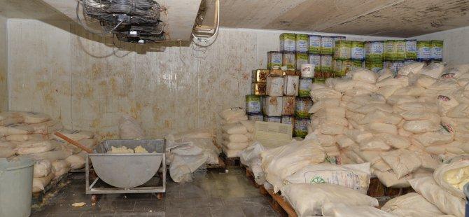 Kocasinan Cırgalan'da 20 ton sağlıksız peynir ele geçirildi