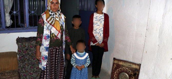 Kocasinan'da Evleri yanan kadın, 3 çocuğuyla mağdur oldu