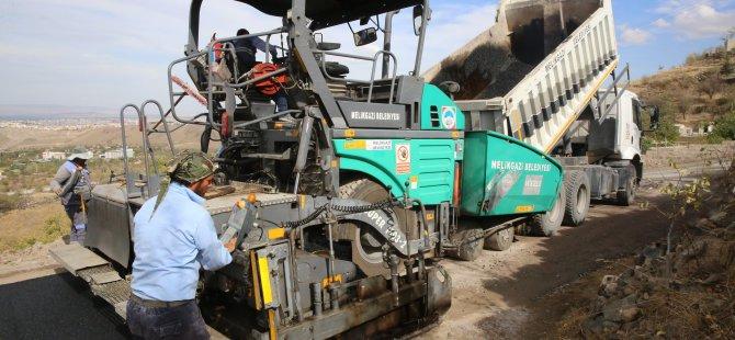 Melikgazi'de asfaltlama çalışmaları
