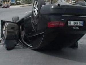 CHP konvoyunda trafik kazası