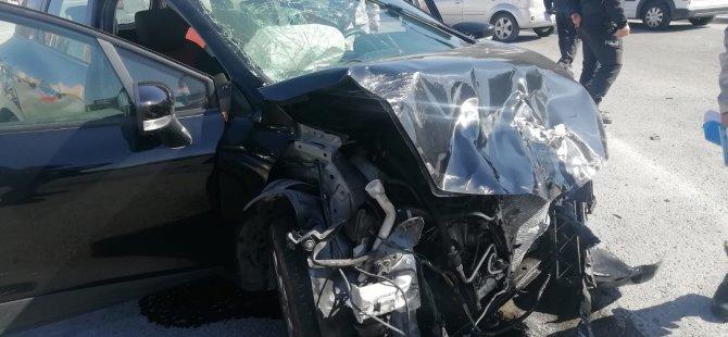 Zümrüt'te Okul önünde meydana gelen kazada faciadan dönüldü
