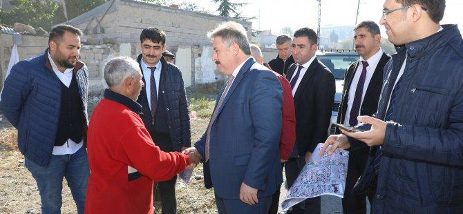 Melikgazi Belediyesi Sivas Caddesi'ni Talas'a bağlayan yolların genişletme çalışmasına başladı
