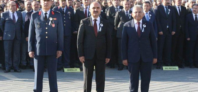 Kayseri'de 10 Kasım Atatürk'ü Anma Töreni Gerçekleştirildi