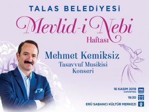 Talas Belediyesi'nden Mevlid-i Nebi Konseri
