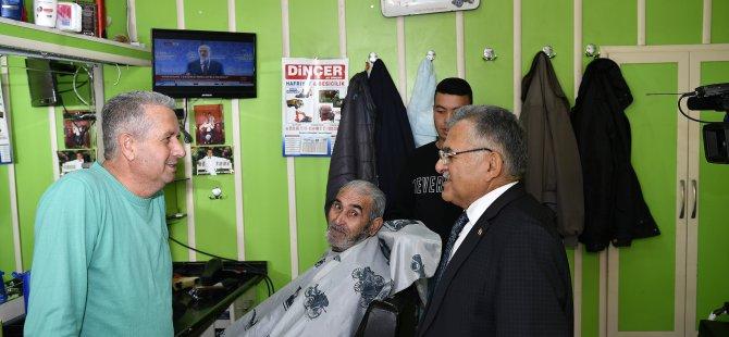 Başkan Büyükkılıç İncesu'da esnafları ziyaret etti
