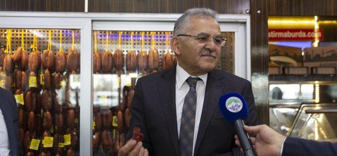 """Başkan Büyükkılıç: """"bu üç lezzetin anavatanı Kayseri"""""""