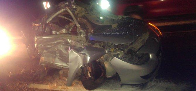 Kayseri-Pınarbaşı yolu feci kaza: 2 ölü, 1 yaralı