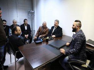 Başkan Palancıoğlu,Kapalı Çarşı ve Yeraltı Çarşı esnafını ziyaret etti