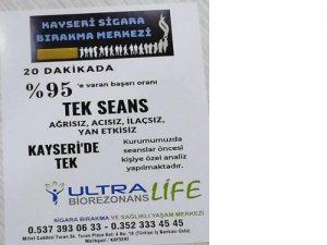 Kayseri'de Ultra Biorezonans Life sigara bırakma merkezi açıldı
