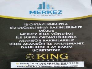 Merkez Bina Yönetimi Asansör ücreti almıyor