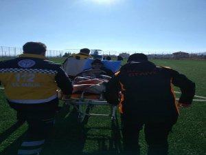 Yeşilhisar'da felç geçiren vatandaş helikopter ambulans ile Kayseri'ye sevk edildi