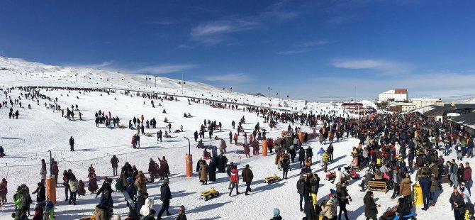 Erciyes, hafta sonu 90 bin ziyaretçi ağırladı