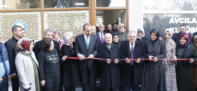 Başkan Büyükkılıç Tomarza Kadınlar kıraathanesi açtı
