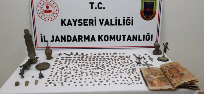 Kocasinan ve Melikgazi'de Tarihi eser operasyonu 10 kişi gözaltına alındı