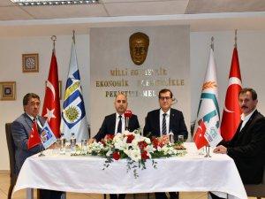 Kayseri Ticaret Borsası ve Çorum Ticaret Borsası'ndan Kardeşlik protokolü