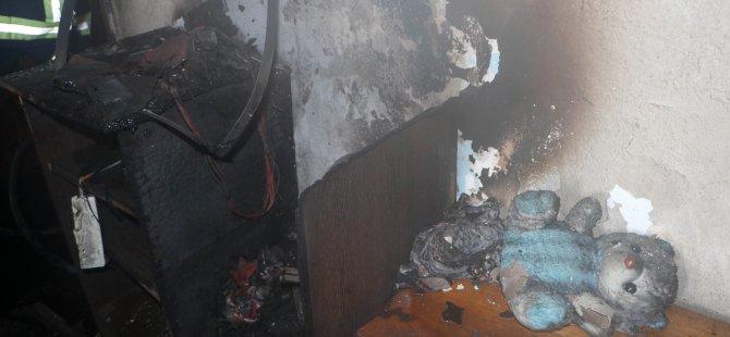 Argıncık'ta ev yangını zehirlenen 2 kardeş tedavi altına alındı