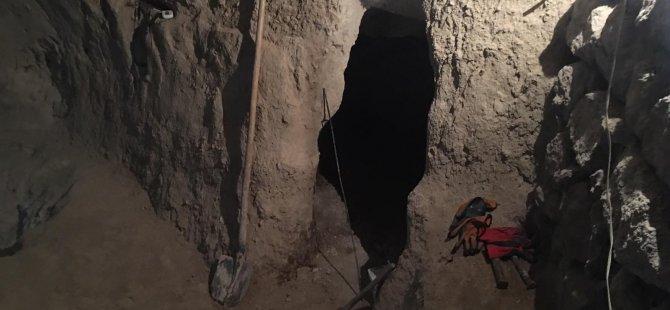 Pınarbaşı'nda kazı yapan şahıs  yakaladı