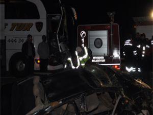 Kayseri'de Nevşehir Yolu Trafik Kazası: 1 Ölü 3 Yaralı