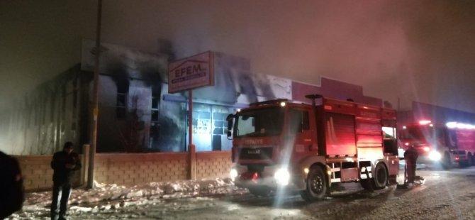 Kayseri Organize'de fabrika yangını