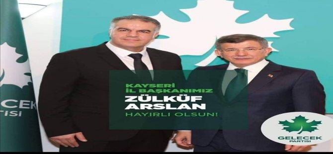 GELECEK PARTİSİ KAYSERİ İL BAŞKANI BELLİ OLDU