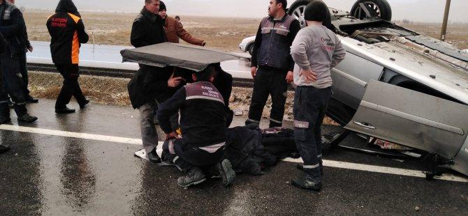 Yeşilhisar'da meydana gelen kazada 2 kişi yaralandı
