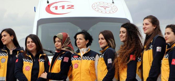 Kayseri'de 112'nin kadın sürücüleri