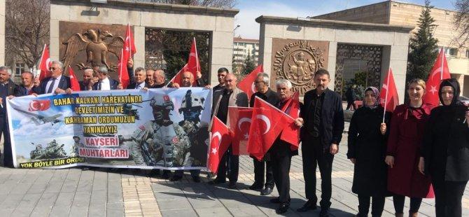 Kayserili muhtarlardan Bahar Kalkanı Harekatı'na destek