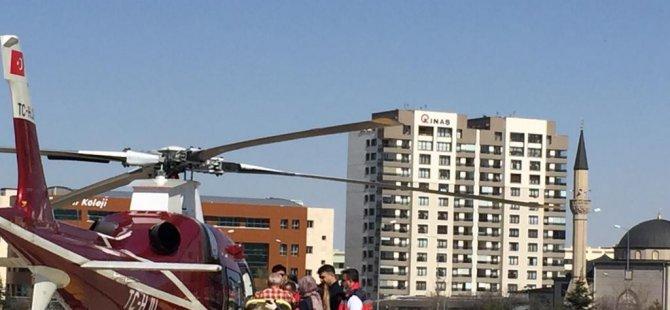 Yahyalı'da Silahla yaralanan adamın imdadına hava ambulansı yetişti
