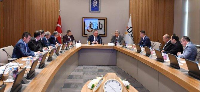 OSBÜK Bölge Müdürleri Toplantısı Kayseri OSB'de yapıldı