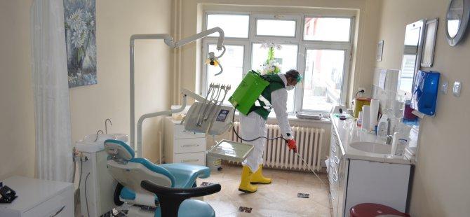 Bünyan Belediyesi İlçe Devlet Hastanesi dezenfekte edildi