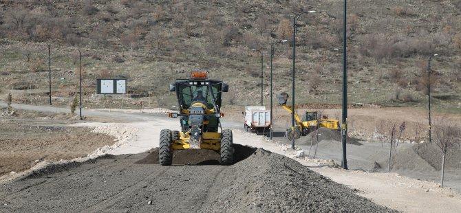 Talas Belediyesi Ali Dağı yolunda son rötuşları yaptı