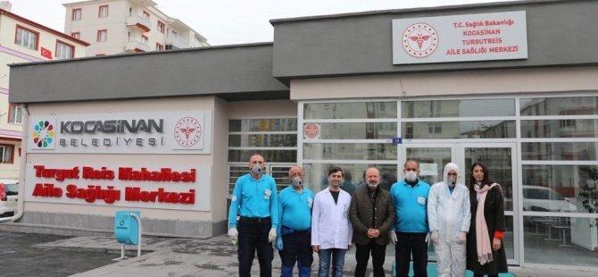 Kocasinan Belediyesi dezenfekte çalışmalarına devam ediyor